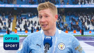 Kevin De Bruyne on Aguero importance and Premier League title delight in front of fans