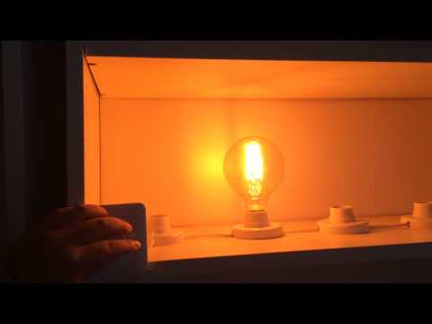 Dimmable LED filament G95 2000K