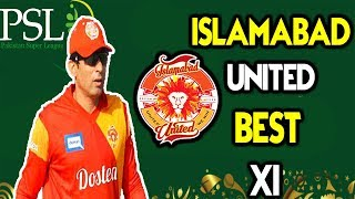 Islamabad United Best Playing XI for PSL 2018