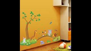 Детская наклейка на стену джунгли (обзор)