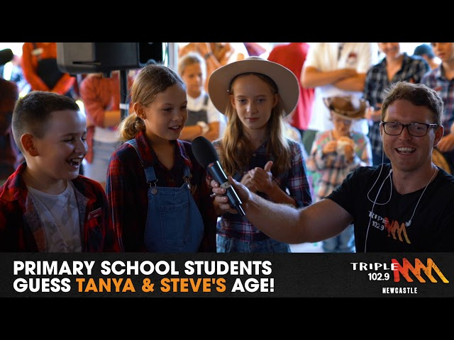 Primary School Kids Guess Tanya & Steve's AGE! | 102.9 Triple M Newcastle