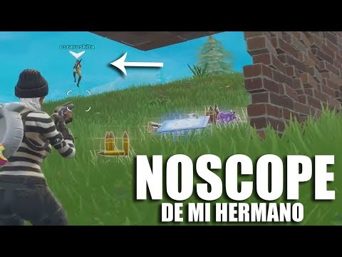 MI HERMANO (11 AÑOS) HACIENDO NOSCOPES EN FORTNITE