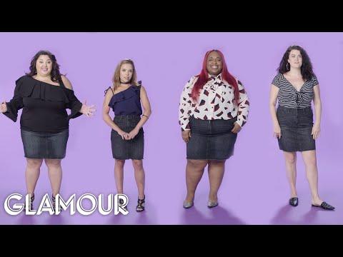 Women Sizes 0 to 26 Try On the Same Mini Skirt | Glamour