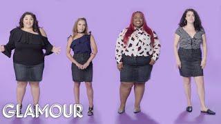 Women Sizes 0 Through 26 Try On the Same Mini Skirt | Glamour