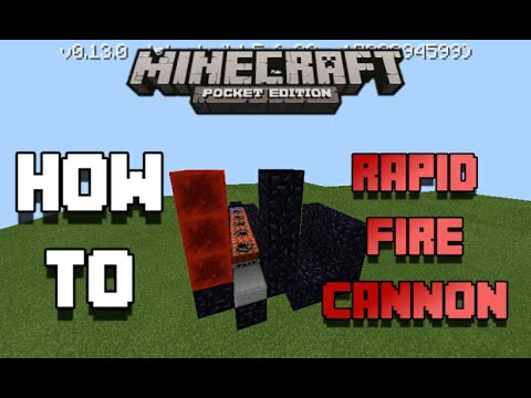 minecraft pe how to make a gun