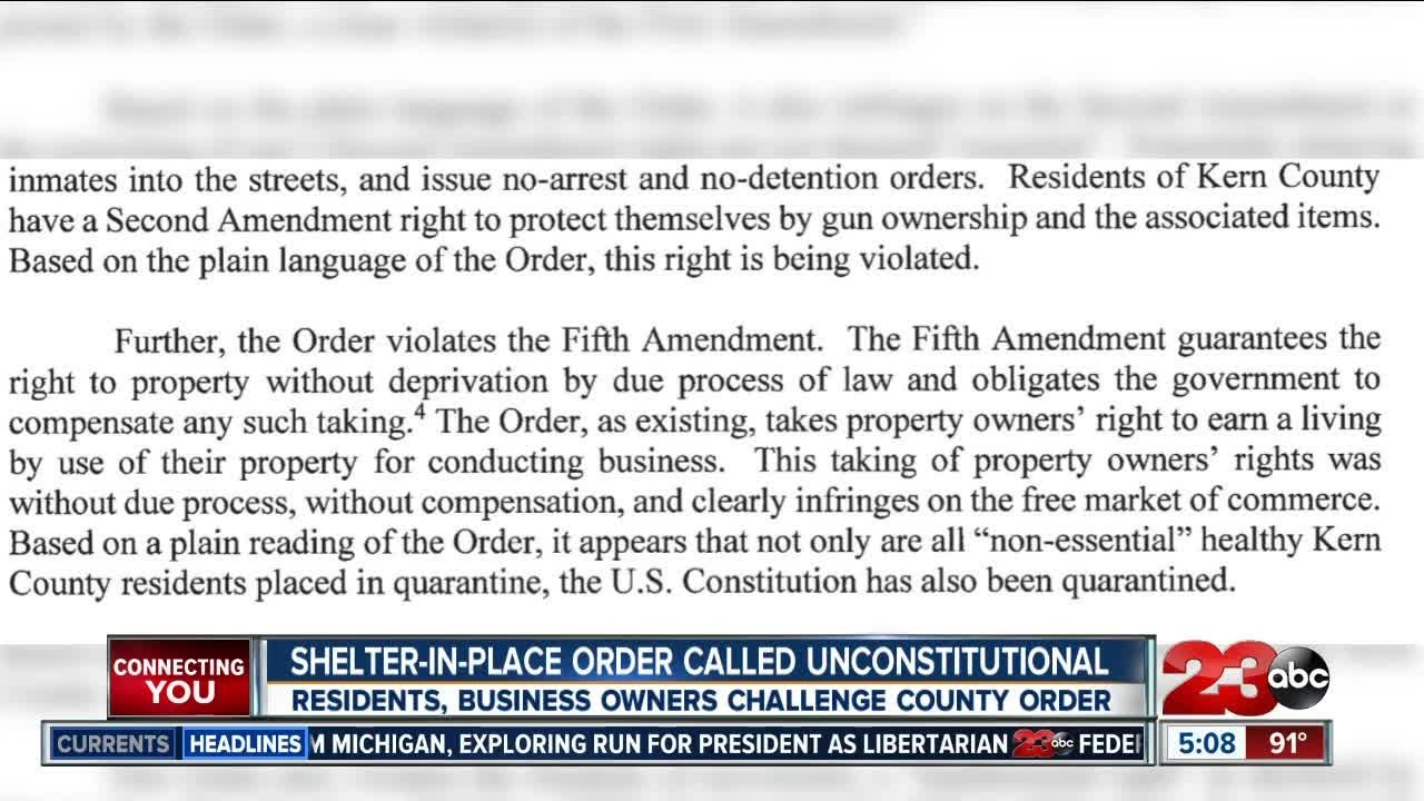 Local lawyers argue stay at home order is unconstitutional