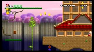 Newer Super Mario Bros. Wii 100%: World 4 - Sakura Village