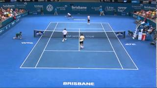 Federer & Mahut v Chardy & Dimitrov - Highlights Men