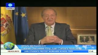 Spain Monarchy: Cabinet Discusses King Juan Carlos