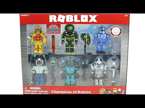 Roblox Toys Champions Of Roblox Roblox Series 1 Champions Of Roblox Pack Unboxing Toy Review Youtube