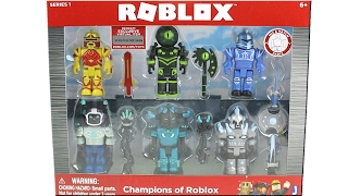 Roblox Series 1 Champions of Roblox Pack Unboxing Toy Review