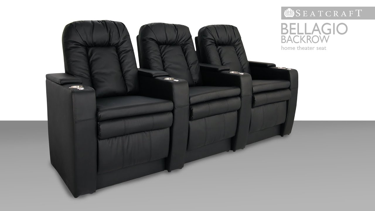 seatcraft bellagio backrow home theater seats youtube