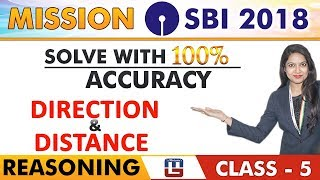 SBI Clerk Prelims 2018 | Direction & Distance | Reasoning | Solve With 100% Accuracy | Class -5