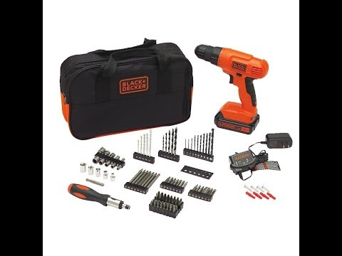 Review BLACK+DECKER BDC120VA100 20-Volt MAX Lithium-Ion Drill Kit with 100 Accessories