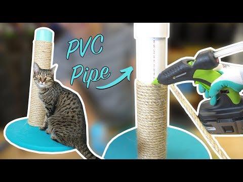 DIY Cat Scratching Post using PVC Pipe