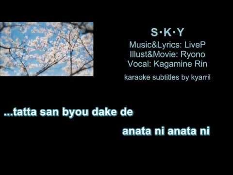 【Karaoke】S・K・Y【off vocal】LiveP