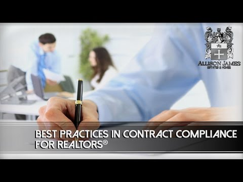 Best Practices in Contract Compliance for REALTORS®