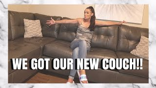 New couches | New furniture | Ashley's Furniture | Gray Sectional