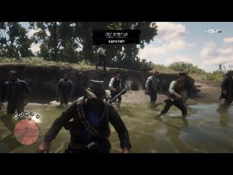 Dutch Van Der Linde Gang Vs Sisika Penitentiary Guards - Red Dead Redemption 2