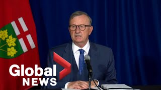 Ontario's chief medical officer of health dr. david williams on friday outlined recommendations he has made to premier doug ford and his cabinet in response ...
