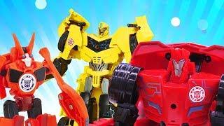 Игры с Трансформерами - Десептиконы на соревновании Автоботов! – Видео для мальчиков.