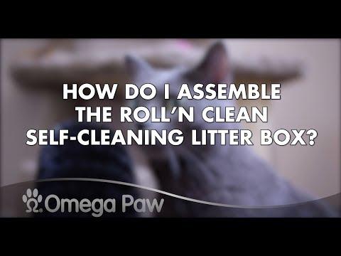 Omega Paw FAQ: How Do I Assemble the Roll'n Clean Self-Cleaning Litter Box?