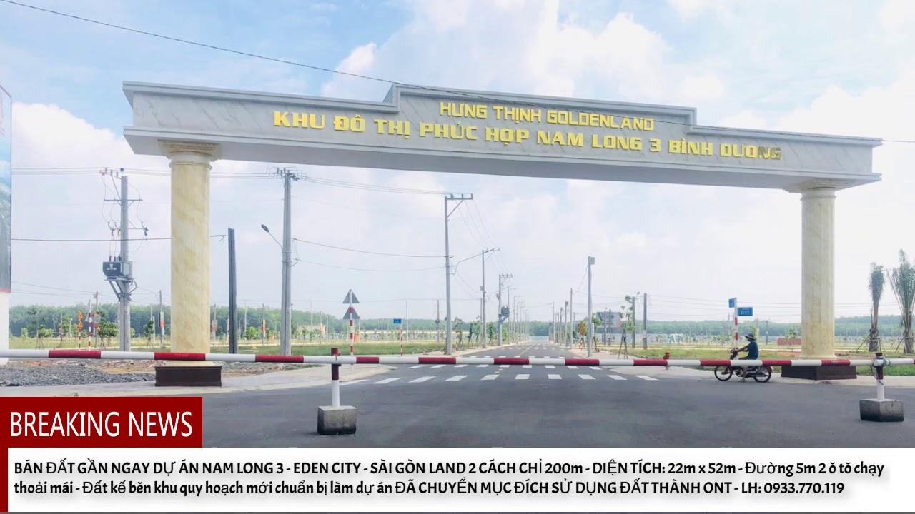 image Bán đất gần Dự án Nam Long 3 - Eden City Mặt tiền đường DH 619 thuộc xã Long Nguyên, huyện Bàu Bàng