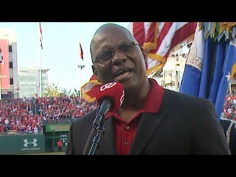 SF@WSH: D.C. Washington sings national anthem in D.C.