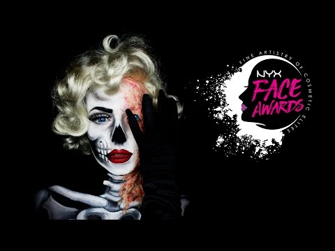 MARILYN MONROE -Two Faces of Fame-NYX #FACEAWARDSGERMANY 2017 ENTRY / SFX&Facepaint/two face make-up