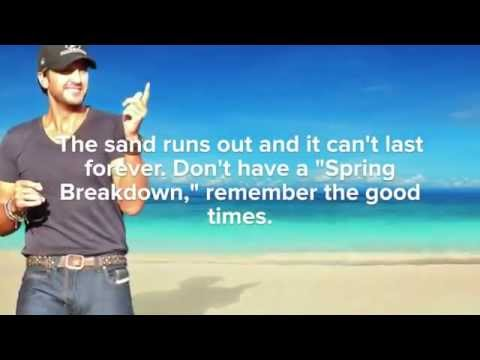 Luke Bryan Guide to Avoiding a Spring Breakdown