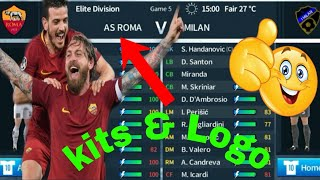 How to create AS Roma Kits & Logo 2018/19 | Dream League Soccer 2019