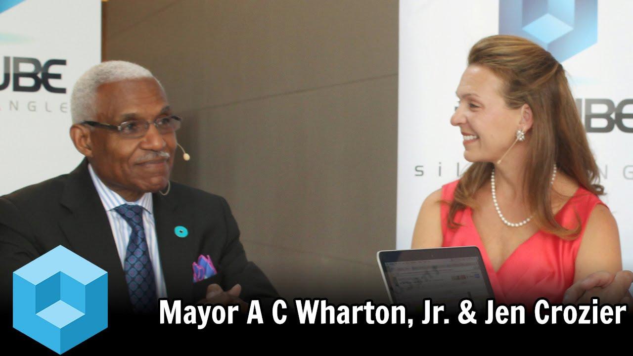 Mayor A C Wharton, Jr. & Jen Crozier