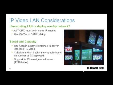 Networking Considerations for IP Video and Surveillance Applications