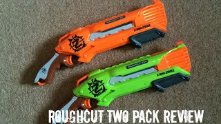Nerf Zombie Strike RoughCut 2X4 2pk Unboxing, Overview & Firing Test