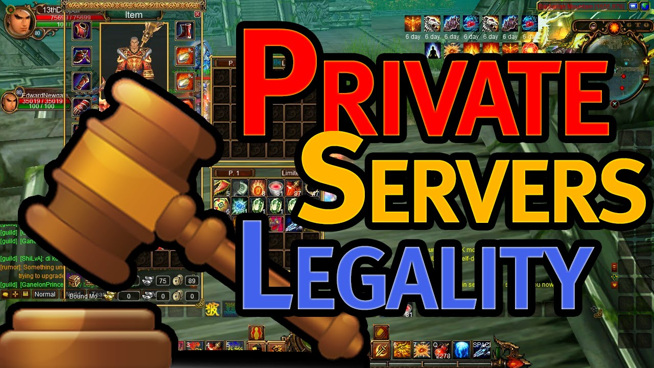 Is it Legal / Allowed to Use or Run Private Online Game Servers?