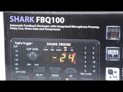 [Review]Behringer Shark Fbq100 High Performance Single Channel Feedback Destroyer With Integrated