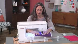 How to use a walking foot to create spirals on Fresh Quilting with Christina Cameli (203-2)