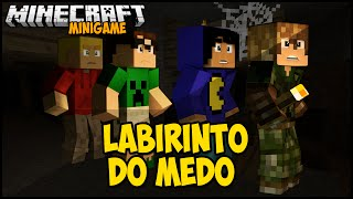 Minecraft: LABIRINTO DO MEDO! C/ Pac, Febatista e Mike