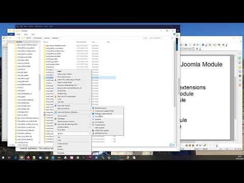 Basic Joomla Module Development Video 1