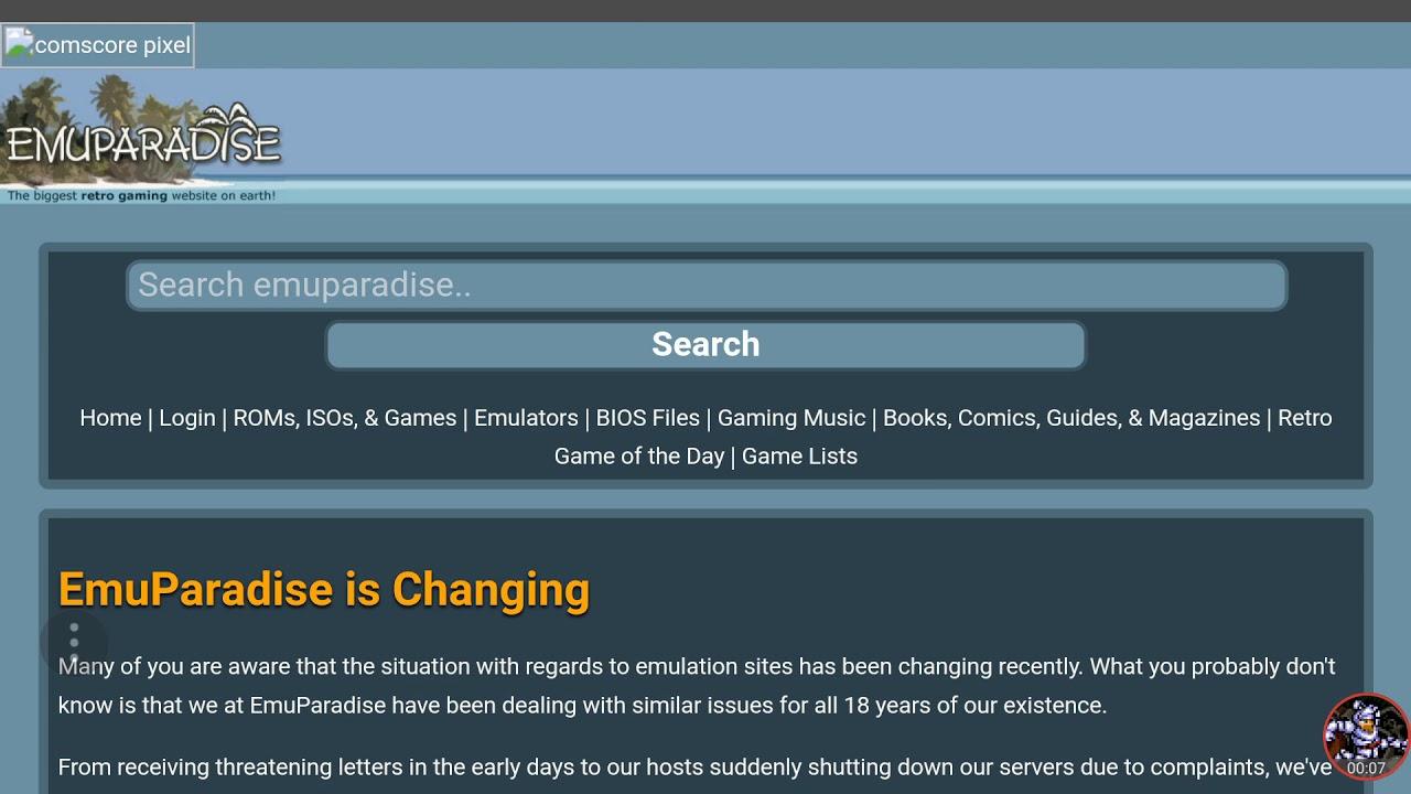 Sad News, Emuparadise Has Been Shut Down 😢