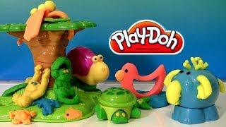 Play Doh Jungle Animals Monkey Elephant Turtle Play Dough Animales de la Selva Animaux de la Jungle