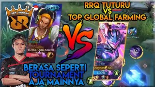 Ketemu RRQ TUTURU Auto Duel MM Best MM vs Top global Kebun