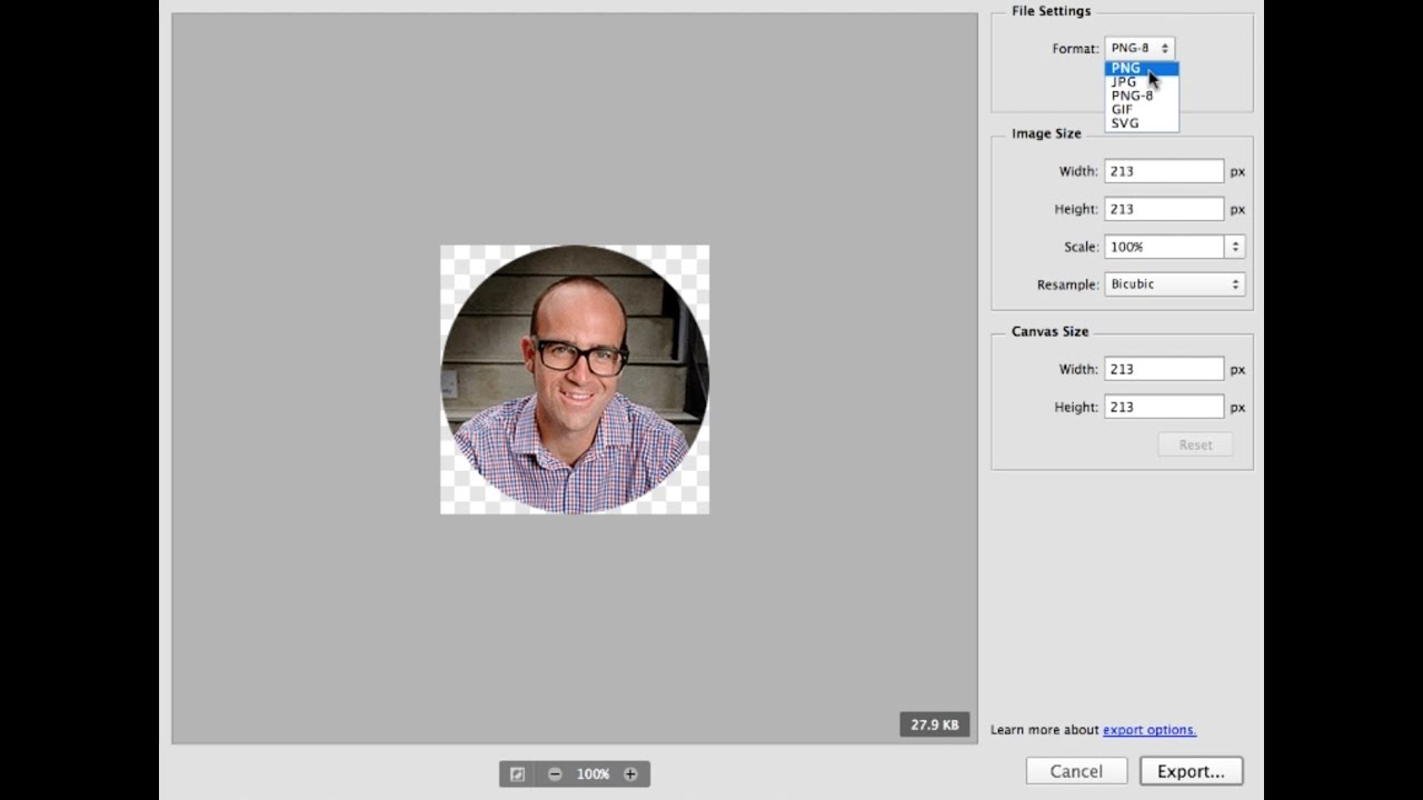Photoshop CC 2015 Web Design Tutorial | Learn How To Optimize Images for Web Photoshop - 45/48