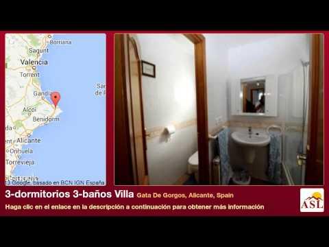 3-dormitorios 3-baños Villa se Vende en Gata De Gorgos, Alicante, Spain
