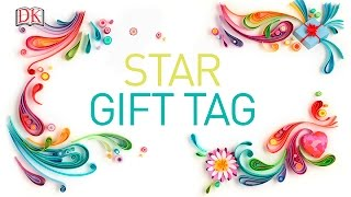 Paper craft: Star gift tag