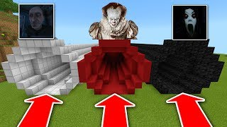 Minecraft PE : DO NOT CHOOSE THE WRONG TUNNEL! (Grandpa, Pennywise & Slendrina)