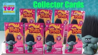 Trolls Movie Collectible Trading Cards Blind Bag Pack Opening | PSToyReviews