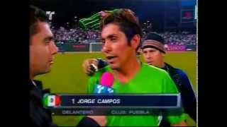 last minutes in the Mexican national team for Jorge Campos