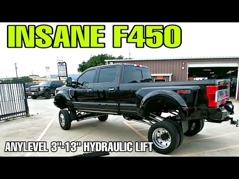 "ONE OF A KIND Crazy 2019 Ford F450 Limited! Must see this craziness! AnyLevel 13"" Lift"