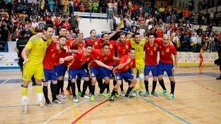 España-Eslovenia Fútbol sala Pabellón Javier Imbroda  Melilla
